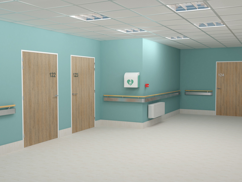 PROFEU® HOSPITALIER, l'huisserie des blocs-portes pour milieu hospitalier - Batiweb