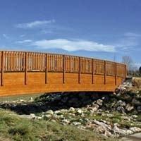 Passerelle piétonne bois « Montréal »