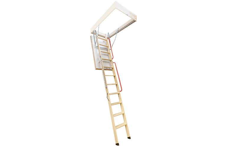 Escalier escamotable avec échelle en bois LWL Extra FAKRO - Batiweb