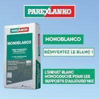 Enduit MONOBLANCO - Réinventez le blanc !  Batiweb