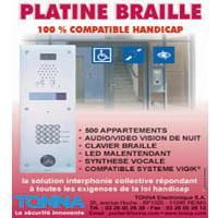 PLATINE INTERPHONIE VIDEO 100% HANDICAP - BRAILLE - Batiweb
