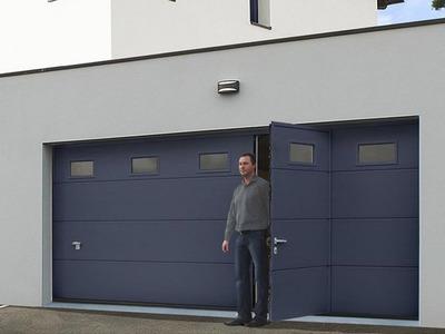 Porte de garage avec portillon intégré Batiweb