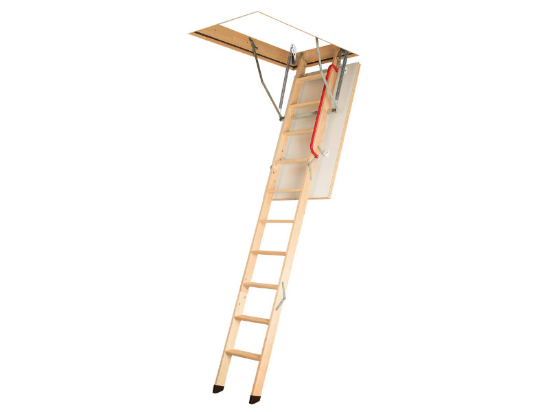 LWK Komfort, escalier escamotable avec échelle bois pliable - Batiweb