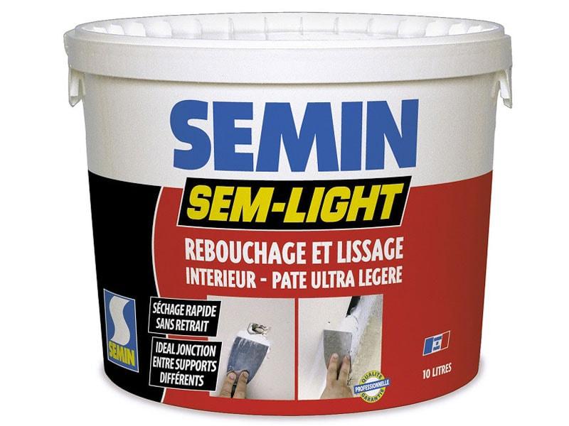 SEM LIGHT : ENDUIT INTERIEUR DE REBOUCHAGE ET LISSAGE EN PATE ALLEGEE - Batiweb