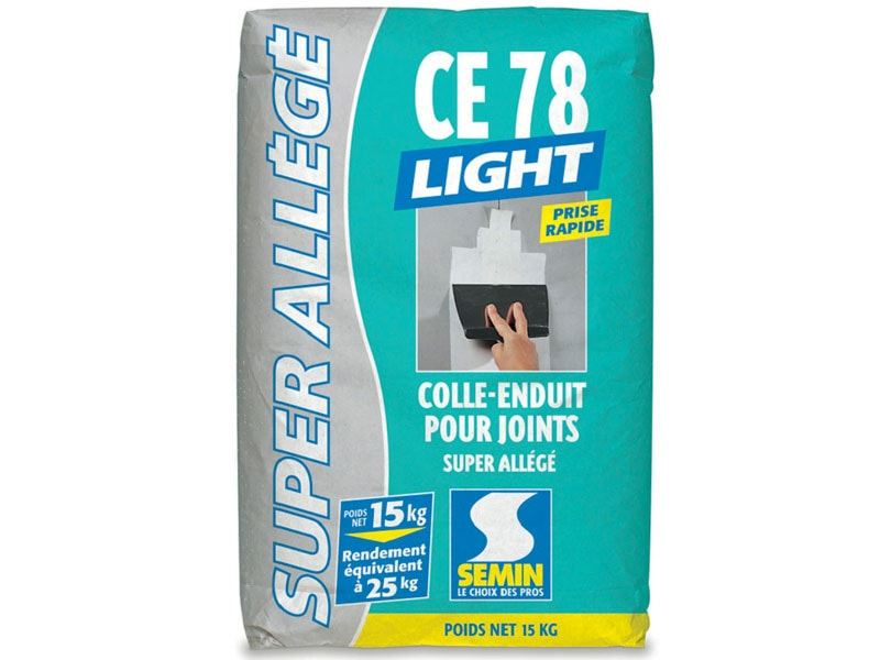 CE78 LIGHT : colle-enduit allégée pour joint de plaque de plâtre. - Batiweb