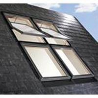 Designo R4 RotoTronic WTT : fenêtre de toit bois ou PVC motorisée pose semi-encastrée