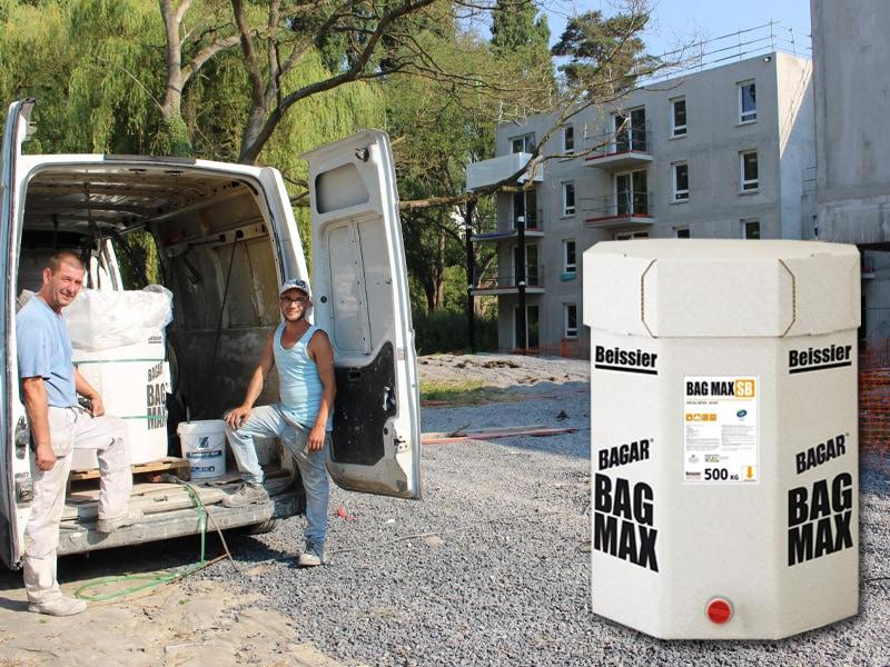 BAGAR BAG MAX - Enduit en pâte spécial airless en carton de 500 kg - Batiweb