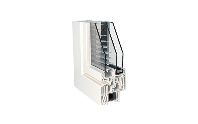 Fenêtre PVC Top 90 Twin-line avec store vénitien intégré - Batiweb