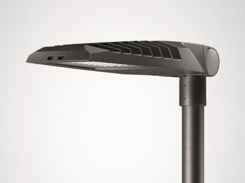 Lumega IQ LED - luminaire LED pour mât droit et crosse