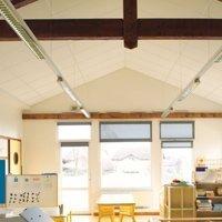 Plafonds acoustiques en laine de roche Rockfon Ekla® Th 40 et Ekla Th 80 Batiweb