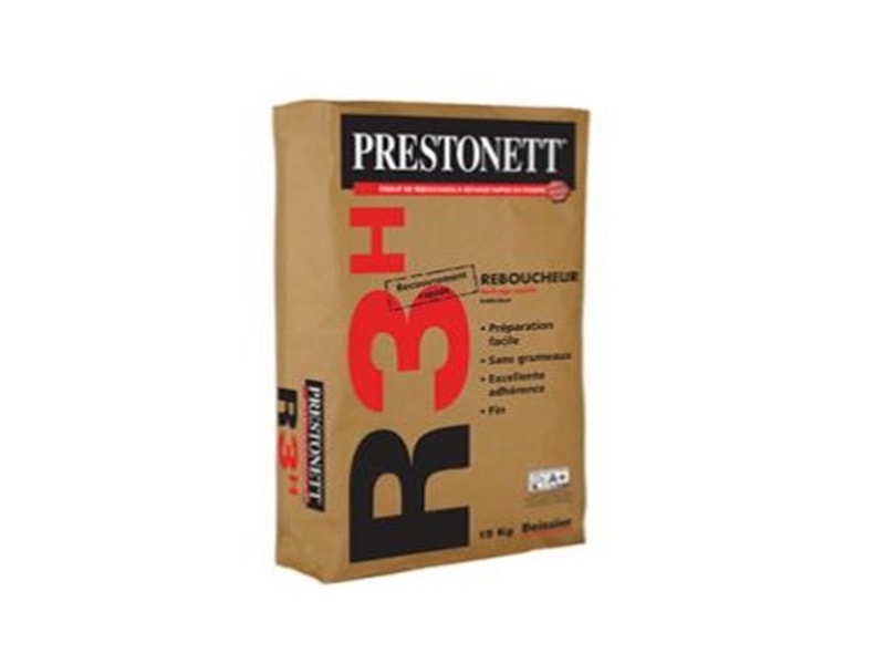 Enduit de rebouchage à séchage rapide en poudre PRESTONETT R3h Batiweb