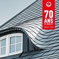 Bardeaux en aluminium pour toiture