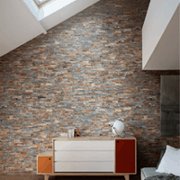 PANNEAU DE PIERRE NATURELLE DECOPANEL MULTICOLOR POUR DECORATION MUR - Batiweb