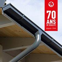 Gouttières carrées en aluminium - Batiweb