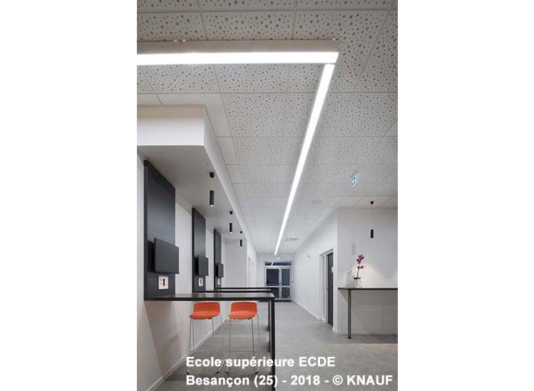 Dalle de plafond acoustique démontable Knauf Danoline - Unity 8/15/20 - Batiweb