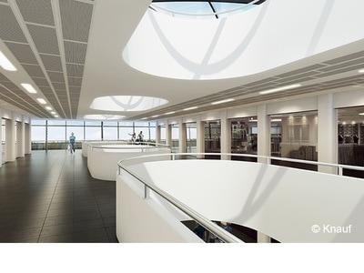Dalle de plafond acoustique démontable Knauf Danoline - Perforation acoustique Tangent Batiweb