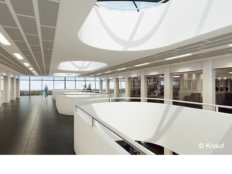 Dalle de plafond acoustique démontable Knauf Danoline - Perforation acoustique Tangent - Batiweb