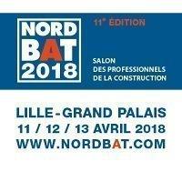 SALON NORDBAT 2018 - 11/12/13 avril 2018 - Lille Grand Palais  - Batiweb