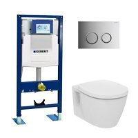 WC suspendu pack complet Geberit et Ideal Standard qualité premium