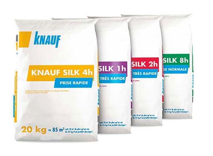 Enduit à joint en poudre - Knauf Silk