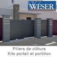 Kits portails et portillons Weser