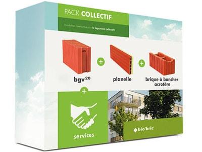 Pack collectif : système constructif jusqu'à 40 %moins cher sur la partie élévation des murs Batiweb