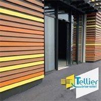Lame décorative en aluminium HF 42x100 pour habillage de façade / Gamme HARMONIE FAÇADE Batiweb