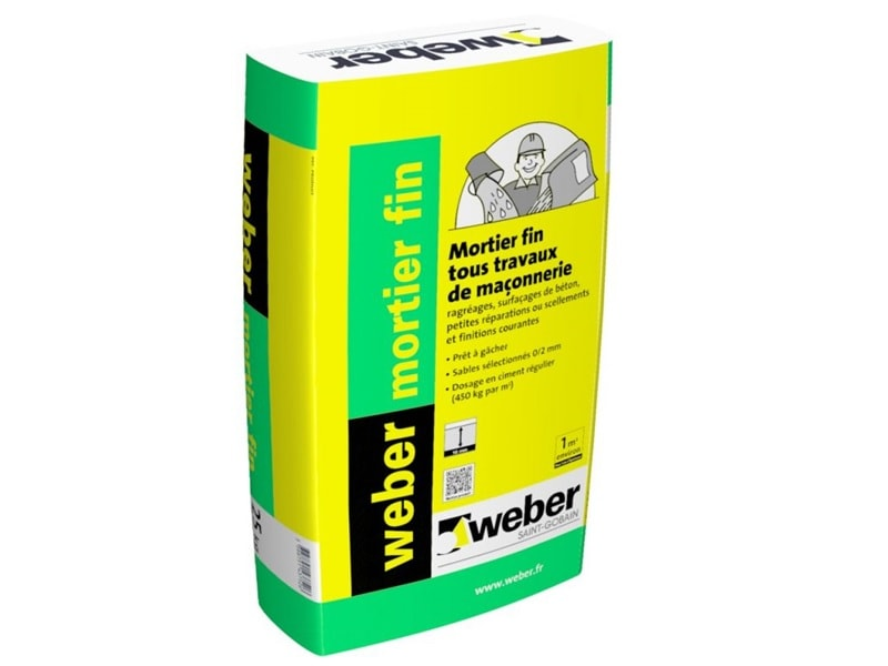 weber mortier fin - Batiweb