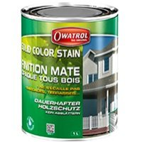 Solid color stain, finition mâte opaque tous bois Batiweb