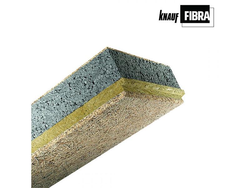 Knauf Fibrastyroc : isolant sous face dalle en laine de bois - Batiweb