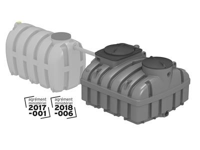 Filtre compact Biomeris gamme de 4 à 20 équivalents habitants, système d'assainissement non collectif Batiweb