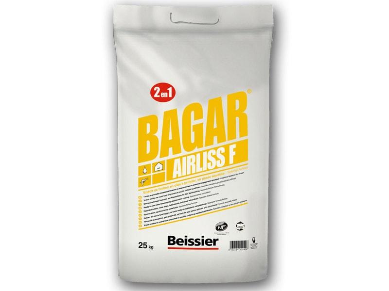 Enduit de finition 2 en 1 en pâte à projeter Spécial airless - BAGAR AIRLISS F - Batiweb