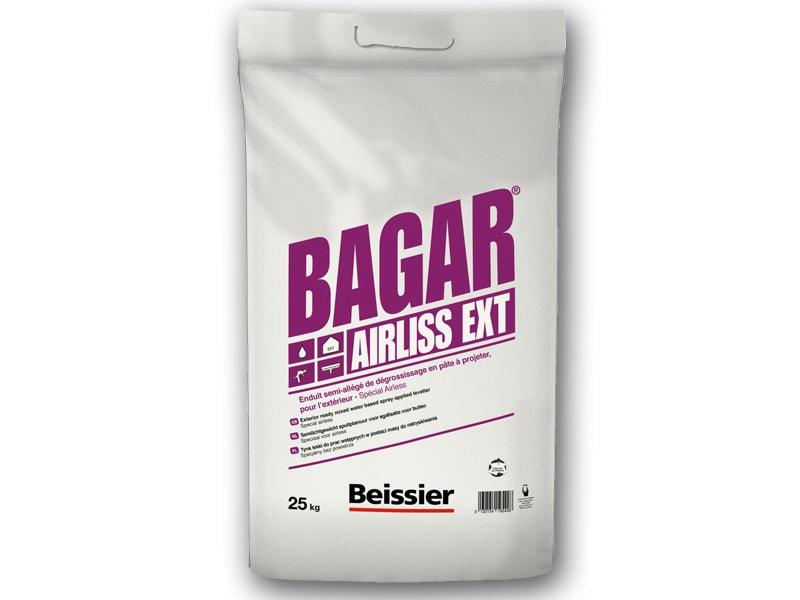 BAGAR AIRLISS EXT, Enduit extérieur semi-allégé de dégrossissage spécial airless