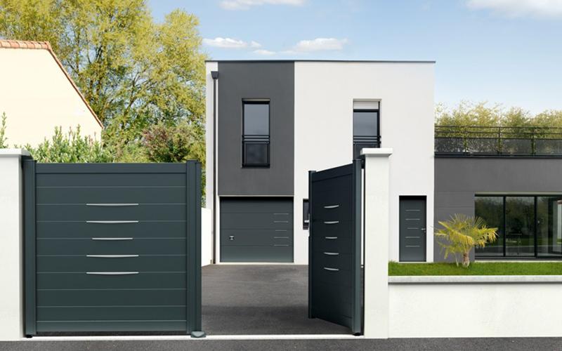 Porte de garage sectionnelle Alinéa - Batiweb