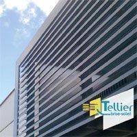 Bardage à ventelles en aluminium / Gamme FAÇAD'LIGNE Batiweb