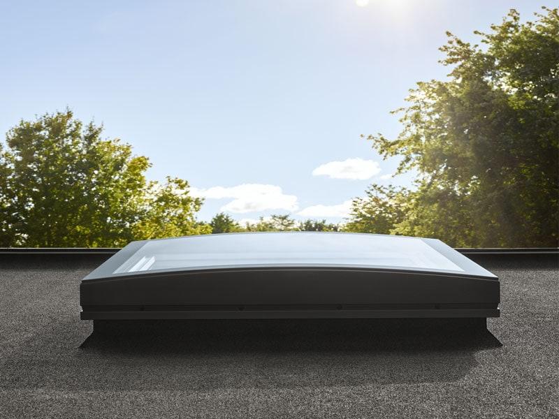 Fenêtre courbe toits plats