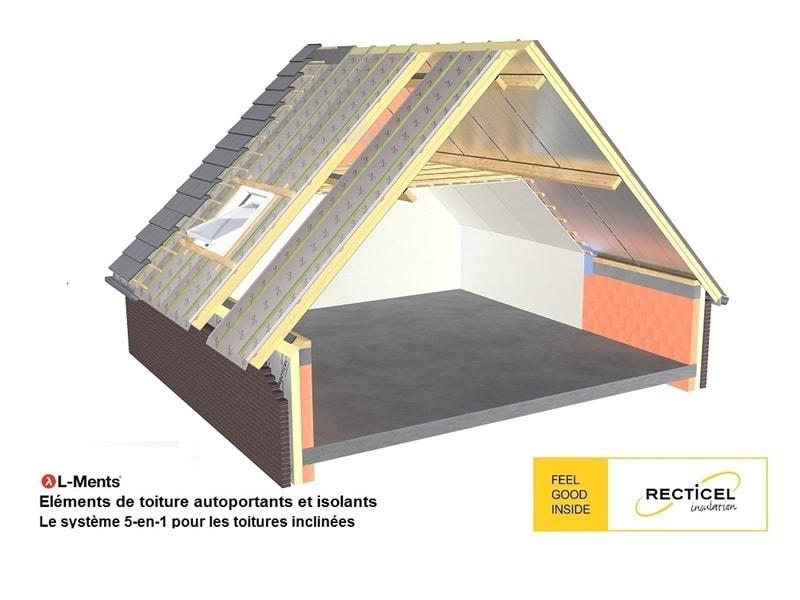 L-Ments®, le premier panneau autoportant 5 en 1 à isolation continue pour les toitures inclinées Batiweb