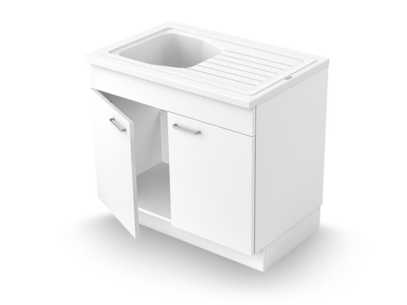 Concept meuble + évier VENDÉE 90 mélaminé - Batiweb
