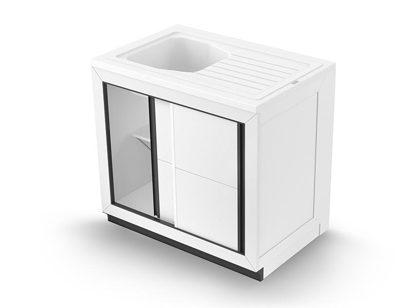 Concept meuble + évier VENDÉE 90 composite - Batiweb