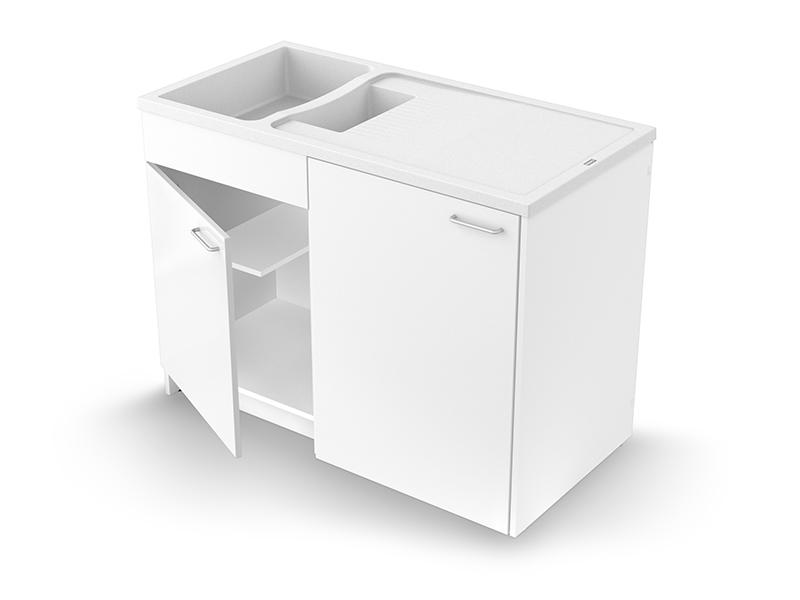 Concept meuble + évier GIGA 120 mélaminé - Batiweb