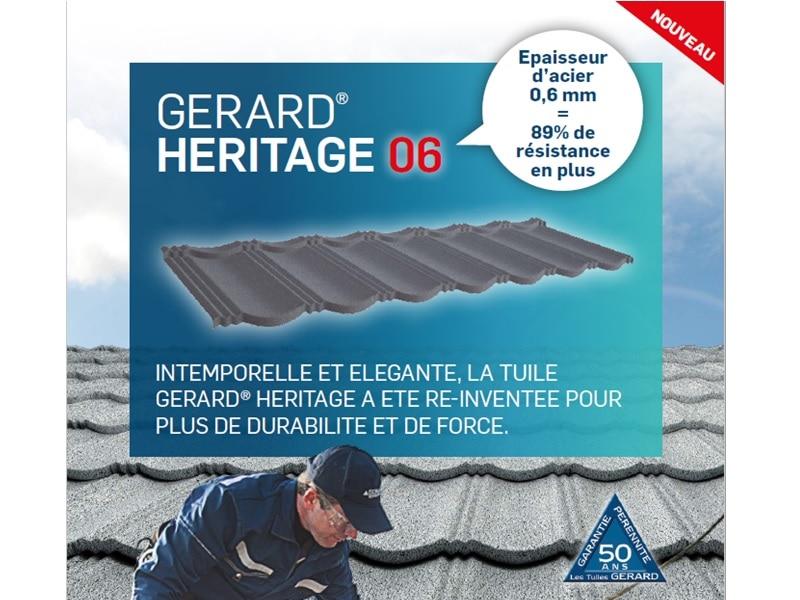 Tuile métalliques GERARD® HERITAGE 06