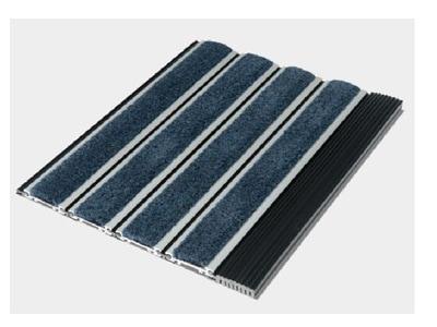 Tapis d'entrée aluminium Pedimat Éco Batiweb