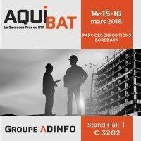 Le Groupe ADINFO au Salon AQUIBAT Batiweb