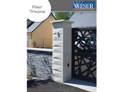 Pilier de clôture Trigone Weser Batiweb
