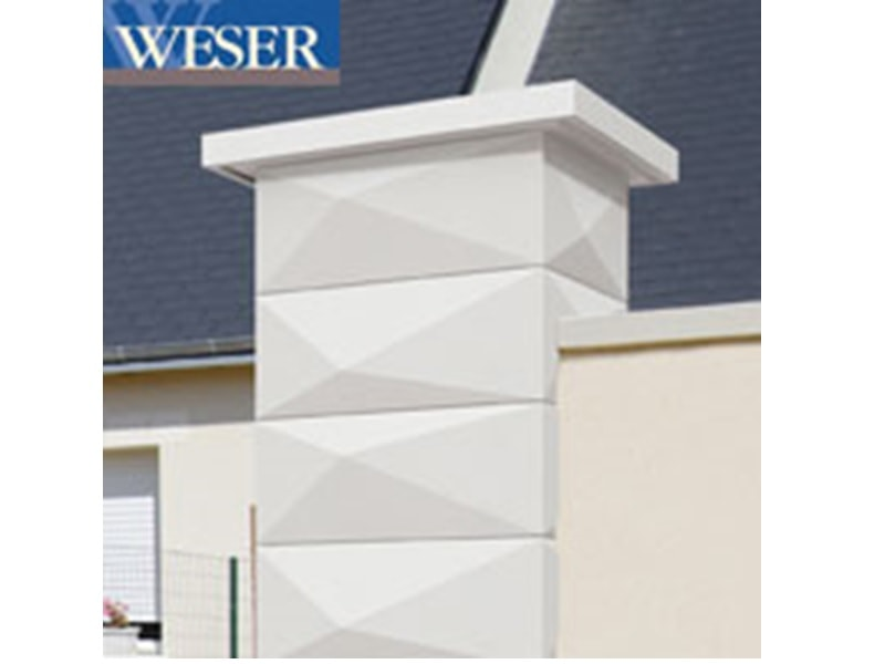 Pilier de clôture Trigone Weser