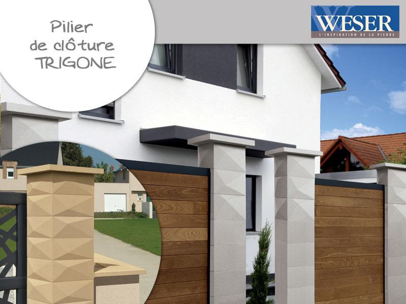 Pilier de clôture Trigone Weser - Batiweb
