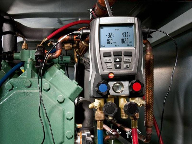 Manomètre froid numérique Testo, appareils pour le réglage des installations frigorifique - Batiweb