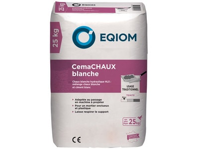 Ciment et chaux CemaCHAUX Blanche Batiweb