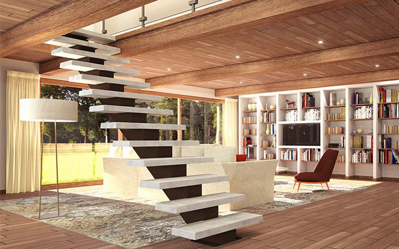 L'escalier SoLoft Broadway: escalier droit métal / béton - Batiweb