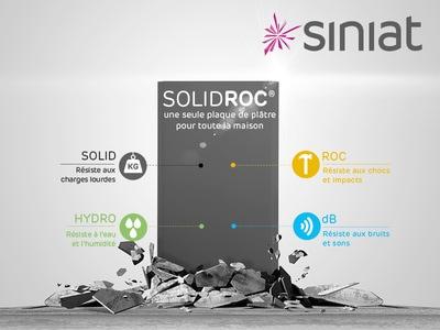 SOLIDROC - Plaque de plâtre très haute résistance (charges lourdes, chocs, humidité, bruit) Batiweb